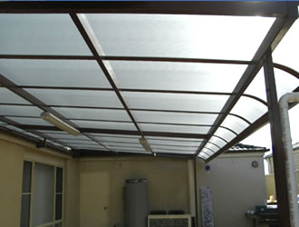 bullnose patio carbolite awnings - ozsun shade systems