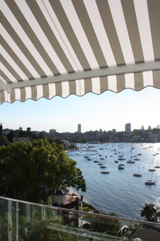 neo folding arm awning Sydney Harbour